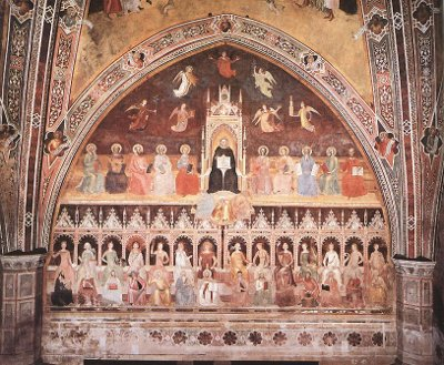 The Wisdom of Thomas Aquinas - Fresco by Andrea da Firenze